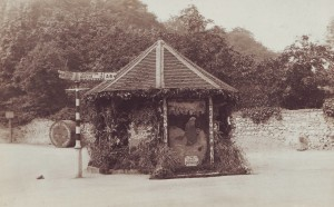 Sheepwash Well, thought to have been taken in the Nineteen Twenties or Thirties. This demonstrates the continuation of the 'Floralia' tradition. Photograph courtesy of Mr. & Mrs. T. C. Bettney.