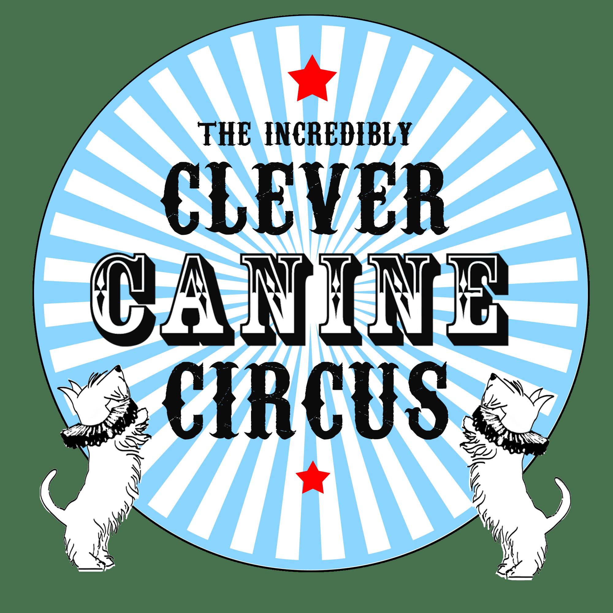 Dog-Nanny-Canine-Circus-Logo-Blue-Circle